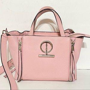 Henri Bendel Leather Pink Satchel Crossbody  Bag